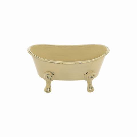 Mini Yellow Bathtub Soap Dish