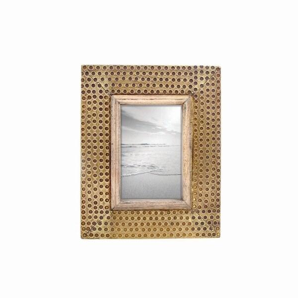 4X6 Hammered Brass Photo Frame