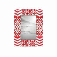 4X6 Red Ikat Photo Frame