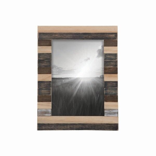 5X7 Slatted Wood Photo Frame