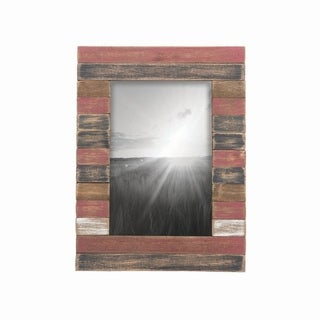4X6 Slatted Wood Photo Frame Red