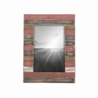 4X6 Slatted Wood Photo Frame Red