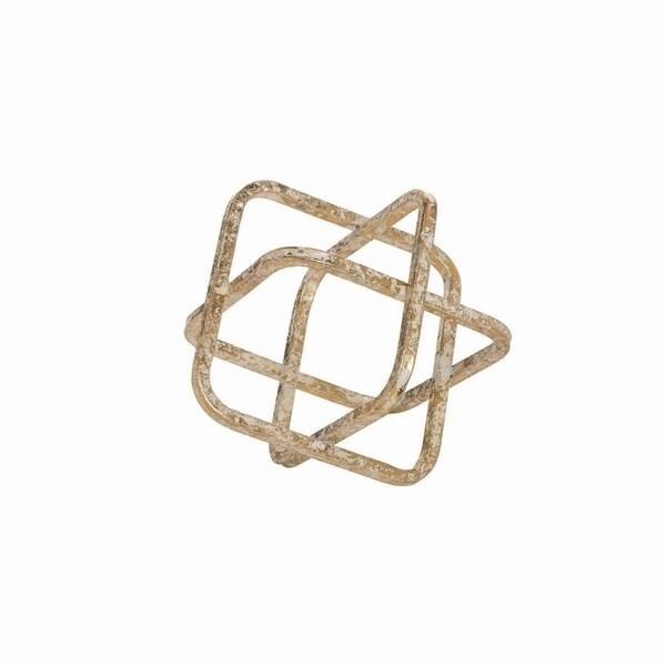 Metal Cube Sculpture Small