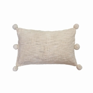 14X22 Hand Woven Pearl Pillow