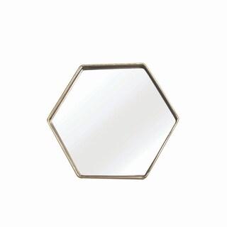 Geo Hexagon Table Mirror - Gold - A/N