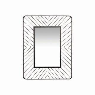 Geo Wire Rectangle Mirror - Black - A/N