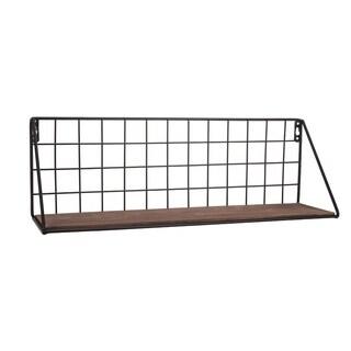 Metal Grid Wall Shelf Large