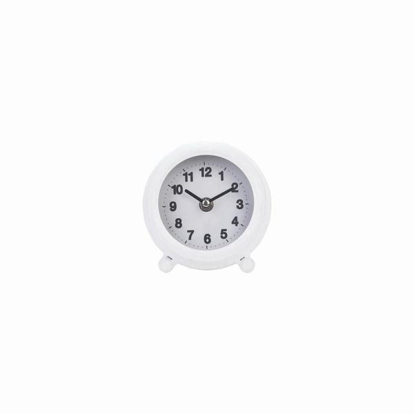 Round Tabletop Clock White