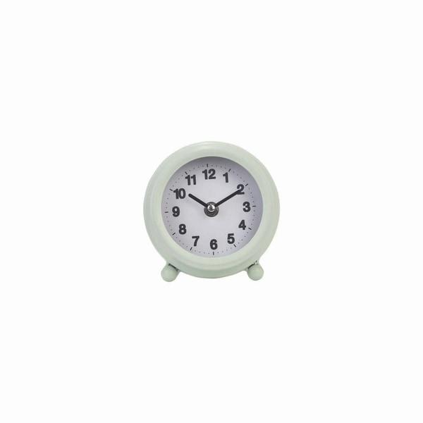 Round Tabletop Clock Mint