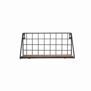 Metal Grid Wall Shelf Small