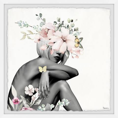 Handmade Playful Bloom Framed Print
