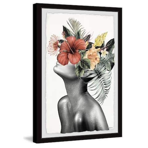 Handmade Tropical Bloom Framed Print