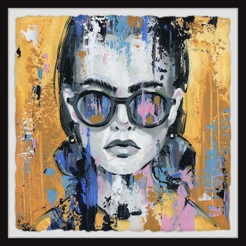 Marmont Hill - Handmade Girl in Sunglass Framed Print