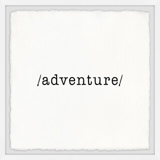 Marmont Hill - Handmade Adventure Lover Framed Print