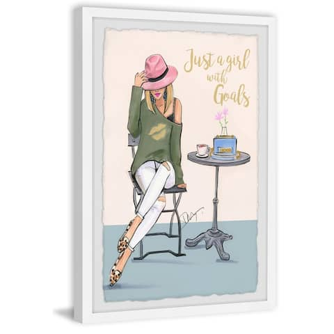 Marmont Hill - Handmade A Girl with Goals Framed Print