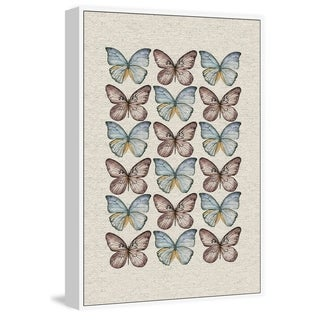 Marmont Hill - Handmade Butterflies in Rows II Floater Framed Print on Canvas