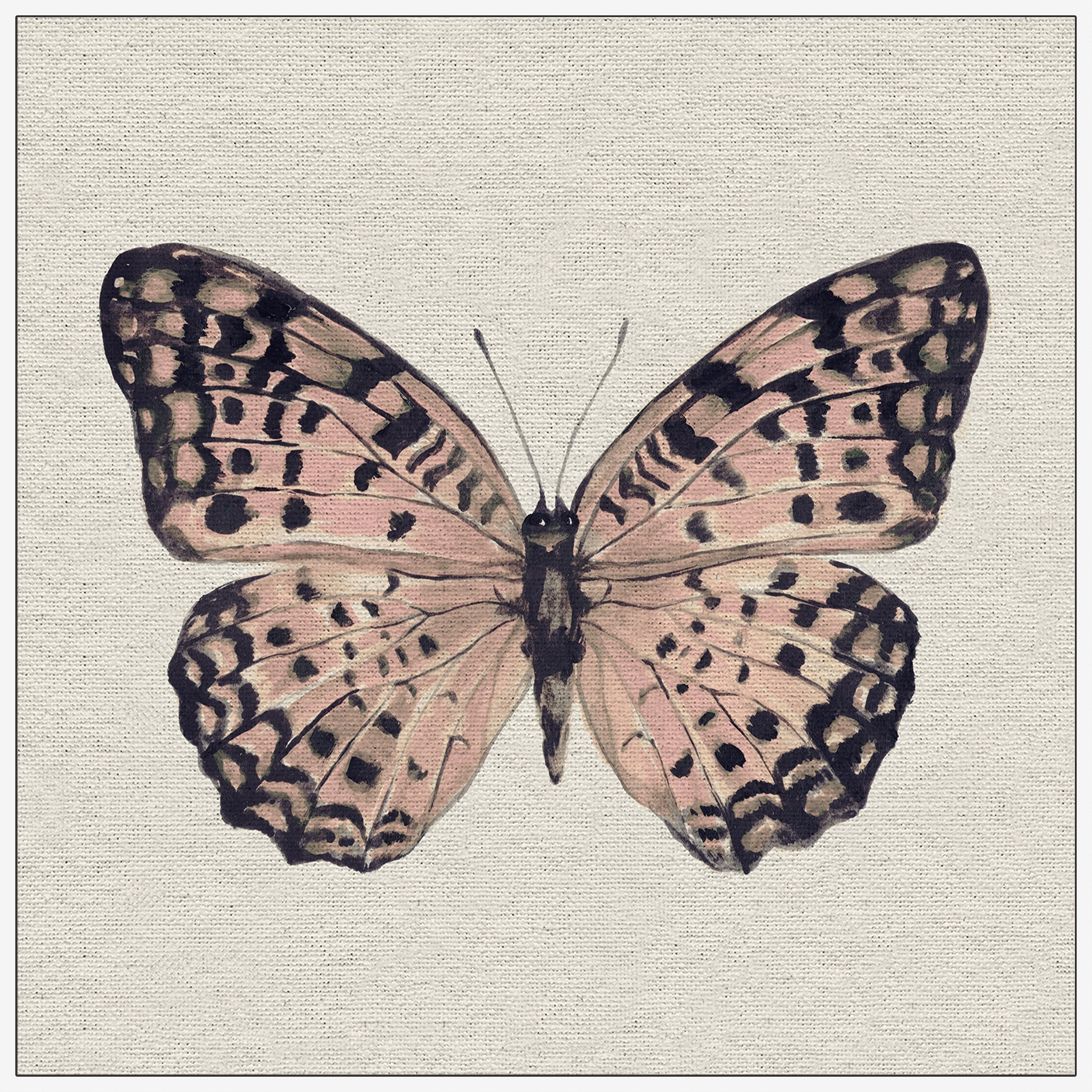 Shop Marmont Hill Handmade Pink And Black Butterfly Ii Floater
