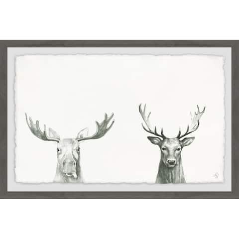 Marmont Hill - Handmade Antler Pair Framed Print