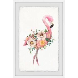 Marmont Hill - Handmade Floral Flamingo Framed Print