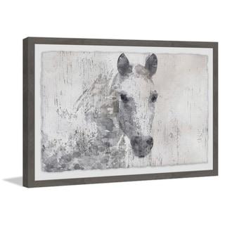 Marmont Hill - Handmade Pale White Horse Framed Print