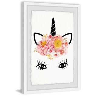 Marmont Hill - Handmade Flowery Unicorn Framed Print