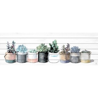 Marmont Hill - Handmade Cacti and Succulents Painting Print on White Wood