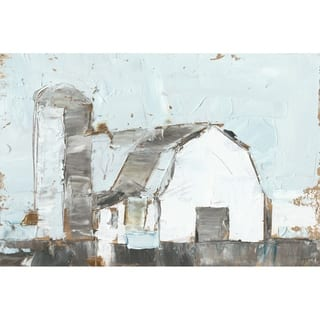 The Gray Barn 'Barn and Silo II' Painting Print on Wrapped Canvas