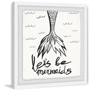 Marmont Hill - Handmade Lets Be Mermaids II Framed Print