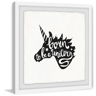 Marmont Hill - Handmade Born to Be a Unicorn Framed Print