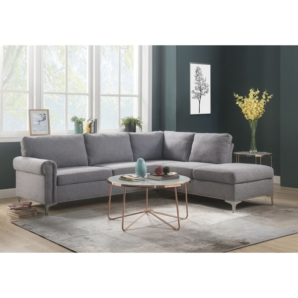 Shop Seduva Contemporary Sleek Design Sectional Sofa In