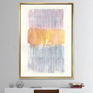 Designart 'Modern Abstract Drive' Cottage Framed Canvas - Grey/Orange