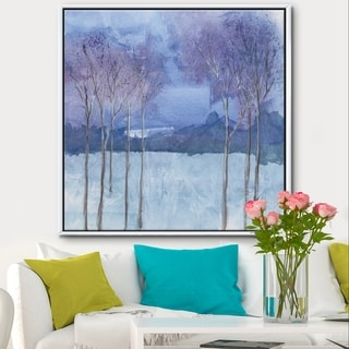 Designart 'Evening Serenade II' Traditional Landscape Framed Canvas - Blue/Brown
