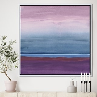 Designart 'Purple Rock landscape III' Shabby Chic Framed Canvas - Multi-color