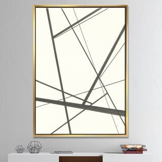Designart 'minimalist black and white IV' Transitional Framed Canvas