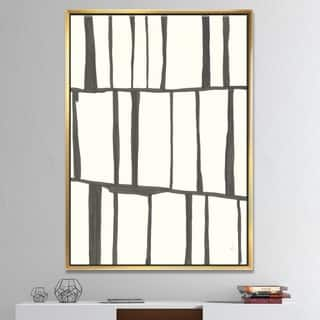 Designart 'minimalist black and white I' Transitional Framed Canvas