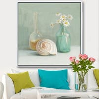 Designart 'Pastel Bath III' Nautical & Beach Framed Canvas - Blue