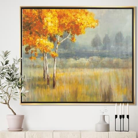 Designart 'Autumn Landscape' Farmhouse Framed Canvas - Grey