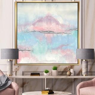 Designart 'Parfait VII' Sleek & Chic Modern Framed Canvas - Blue/Pink