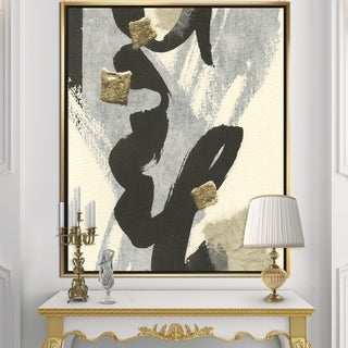 Designart 'Glam Collage II' Modern & Contemporary Framed Canvas - Black