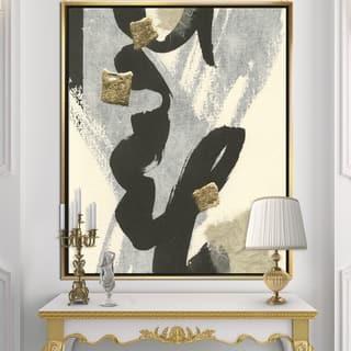 Designart 'Glam Collage II' Modern & Contemporary Framed Canvas - Black