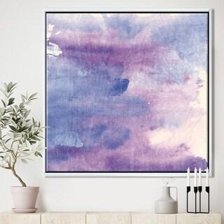 Designart 'Watercolor Purple Haze II' Modern & Contemporary Framed Canvas
