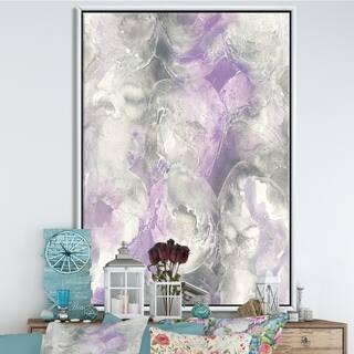 Silver Orchid 'Watercolor Minimal Purple Tones III' Modern Farmhouse Framed Canvas