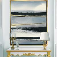 Designart 'Glamorous Morning Fog III' Modern Glam Framed Canvas - Grey