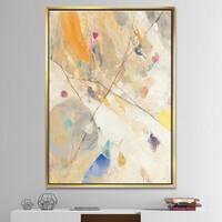 Designart 'Spring Minimalist Confetti II' Modern & Contemporary Framed Canvas - Multi-color