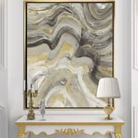 Designart 'Glam Gold Canion' Modern & Transitional Framed Canvas - Multi-color