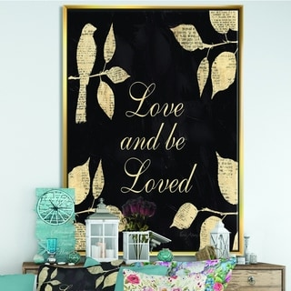 Designart 'Love and Be Loved Cottage Collage' Lake House Framed Canvas - Multi-color