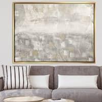 Designart 'Gray Abstract Watercolor' Contemporary Framed Canvas - Grey