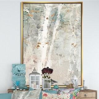 Designart 'A Woodland Walk into the Forest II' Modern Farmhouse Framed Canvas - Grey