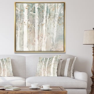 Designart 'A Woodland Walk into the Forest V' Modern Farmhouse Framed Canvas - Grey