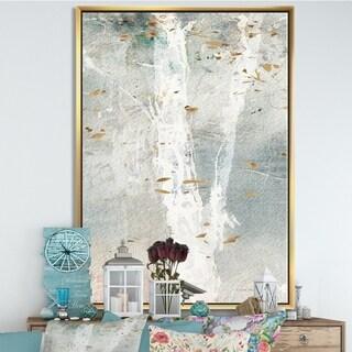 Designart 'A Woodland Walk into the Forest IV' Modern Farmhouse Framed Canvas - Grey